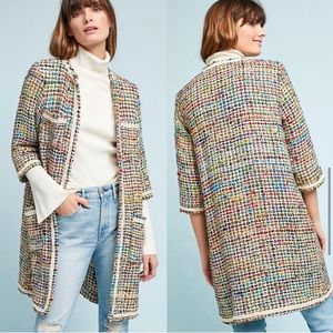 NWT Ett:twa Anthropologie Berwyn Tweed Jacket, XS